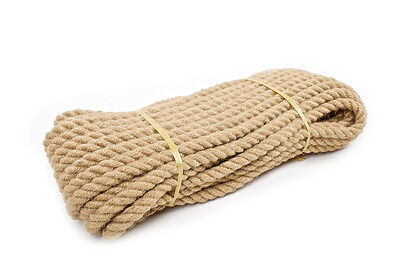 20 Mm Thick Natural Multipurpose Jute Rope Twisted Cord Twine Sash Garden DIY  • 11.98£