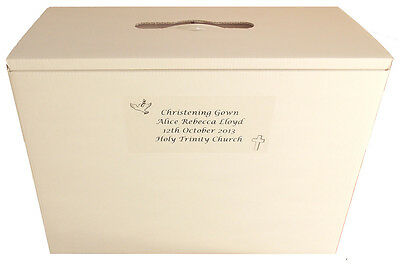 Christening Dress/Gown Boxes PH Neutral Acid Free + Free Tiara / Accessories Box • 17.90£
