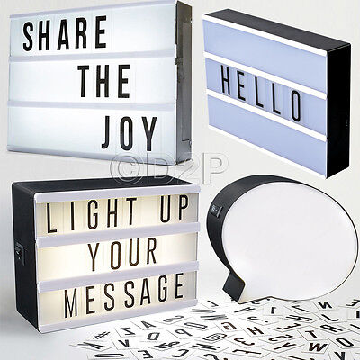 Led Light Message Display Box With Letters Symbols Word Wedding Party Cinematic • 7.99£