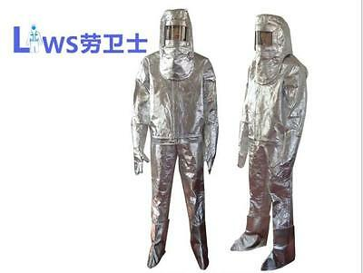 New Thermal Radiation 700-1000 Degree  Heat Resistant  Aluminized Suit Gloves  • 215$