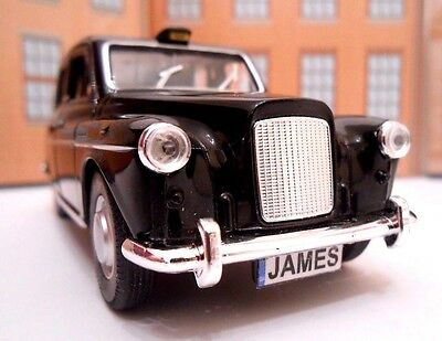 £8.95 • Buy LONDON TAXI CAB PERSONALISED PLATES NAME Toy Car MODEL Boy Dad BIRTHDAY GIFT NEW