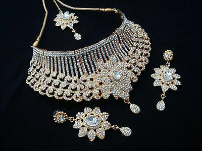 $29 • Buy Indian Bollywood Style Fashion Gold Plated Bridal Jewelry Necklace Set, Style 17
