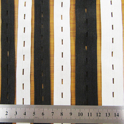 $ CDN2.46 • Buy BUTTON HOLE WOVEN FLAT ELASTIC 16,19 & 25mm ADJUSTABLE STRETCHABLE WAISTBANDS