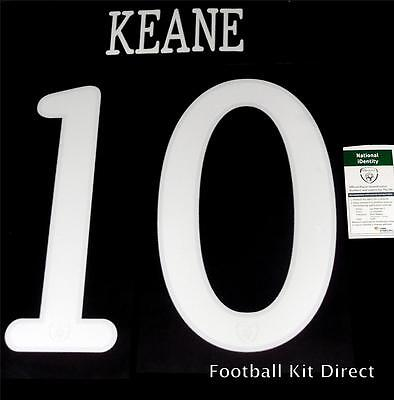 $11.75 • Buy Ireland Keane 10 2010 World Cup Football Shirt Name Set Sporting ID