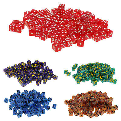 AU26.39 • Buy 100PCS  6-sided Dice Spot Dice 14mm For Board Games, Party Games Dice