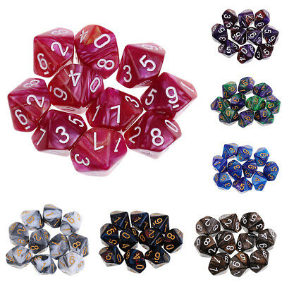 AU9.63 • Buy 10pcs 10 Sided Dice D10Polyhedral Dice For  Table Games