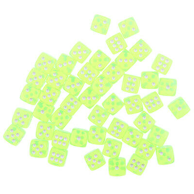 AU15.81 • Buy 100PCS Translucent Dice D6 6-Sided Dice 15MM For Board Games Party New