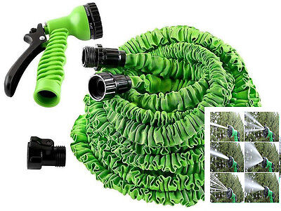 Expanding 25/75 Ft Expandable Flexible Garden Water Hose Pipe Spray Gun • 9.99£