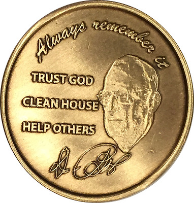 $2.25 • Buy Dr Bob Rx Prescription AA Founders Medallion Always Remember It Sobriety Coin