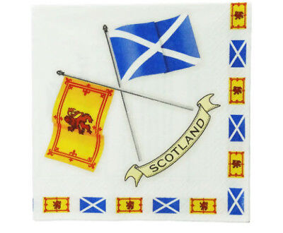 £7.06 • Buy Scottish Napkins, Crossed Scottish Flags And Explanations Of Each Flag