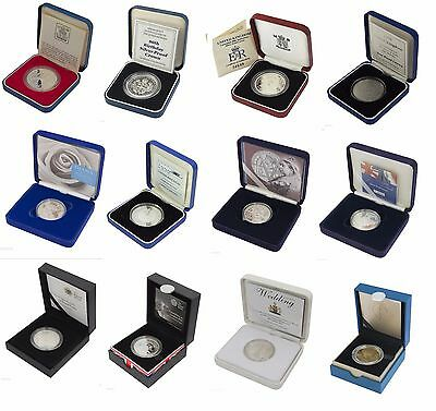 £34.99 • Buy Silver Proof Five Pound £5 Coins Royal Mint Boxed And Coa Choice Of Date