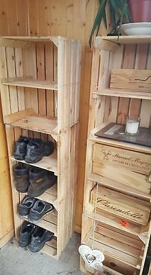 £59.95 • Buy 3 X APPLE CRATES With SHELF - IDEAL SHOE RACK STORAGE SHELVING DISPLAY BOXES.