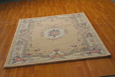 £113.80 • Buy Lotus Premium Fawn Beige Soft Chunky Thick Luxury 100% Wool Pile Chinese Rug