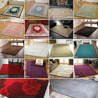 £104.30 • Buy Small - Extra X Large Thick Soft Luxurious Heavy Chunky 100% Wool Designer Rugs