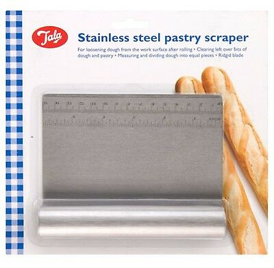 Tala Pastry Dough Cutter Scraper With Measure Stainless Steel Bread Pizza Pies  • 4.69£