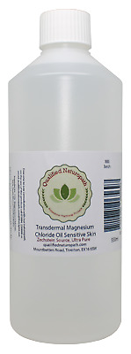 550ml HDPE Transdermal Magnesium Chloride Oil Zechstein Sourced Sensitive Skin  • 13.95£