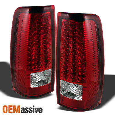$114.99 • Buy Fits 03-06 Silverado 04-06 GMC Sierra Truck Red Clear LED Tail Lights Left+Right