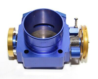 $43.73 • Buy Fit Universal 70MM Billet Throttle BLUE Body Gold Throttle Connection Mazda Toyo