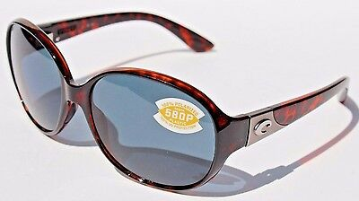 d337887428b96 COSTA DEL MAR Blenny 580P POLARIZED Sunglasses Womens Tortoise Gray NEW •  124.95