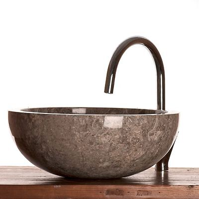 Grey Marble Stone Basin 40 Cm ( WA002 ) For Bathrooms. • 99.99£