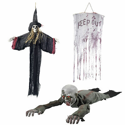 $ CDN5.28 • Buy Smiffys Halloween Scary Hanging Decorations Undead Light Up Animated Skeletons