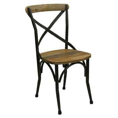 AU119 • Buy New Vintage Look Dining Chair Rustic Cross Back French Provincial Cafe Chairs