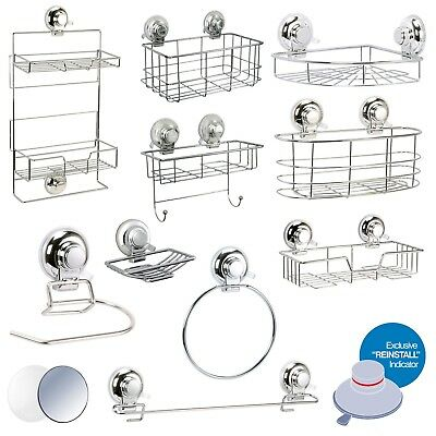 Super Suction  Vertex  Bathroom Wall Accessories | No Drilling Required • 11.99£