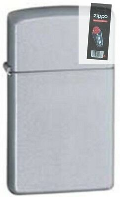 $11.12 • Buy Zippo 1605 Satin Chrome Windproof Lighter + FLINT PACK