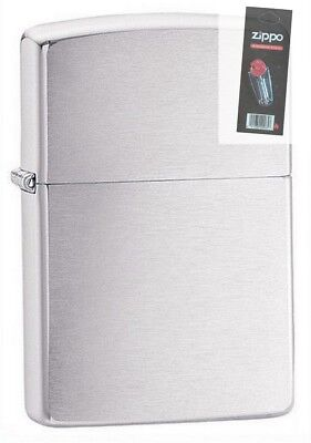 $14.48 • Buy Zippo 162 Brushed Chrome Armor Lighter + FLINT PACK