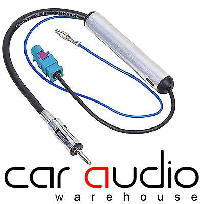 VW Caddy Amplified Booster Fakra - Din Aerial Antenna Adaptor Lead • 5.89£
