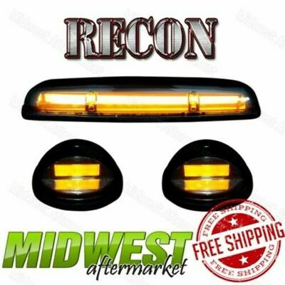 $185.95 • Buy Recon OLED Cab Roof Lights With Amber LEDs Fits 2002-2007 Sierra Silverado 1500