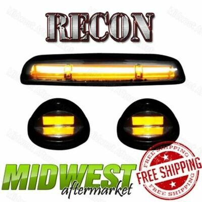 $185.95 • Buy Recon Smoke OLED Cab Roof Lights W/ Amber LEDs Fits 02-07 Sierra Silverado 1500