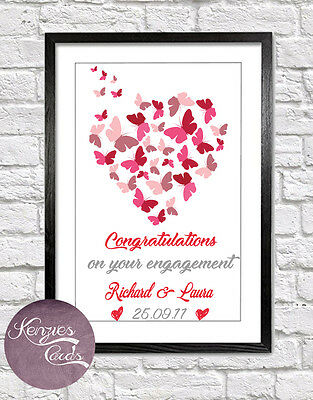 Personalised Engagement Gift / Present Art Print ENG1  • 5.99£