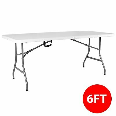 Folding Table 6ft Heavy Duty Trestle Camping Party Picnic BBQ Garden Indoor • 38.95£