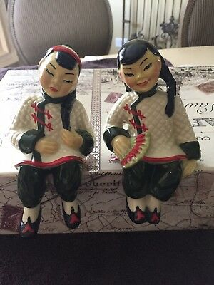 $45 • Buy Ceramic Arts Studio Figurines-Shelf Sitters-Beautiful Pair