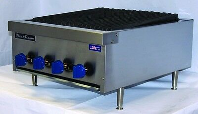 $1225 • Buy New Blue Flame Natural Gas Countertop Radiant Char Broilers BFRB 12, 18, 24, 36