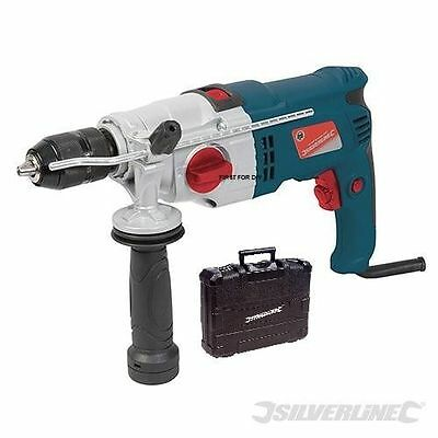 View Details Silverline Heavy Duty Electric 1050w Impact Hammer Drill Driver Screwdriver New • 54.95£