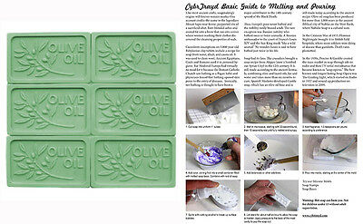 $10.99 • Buy Olive Oil Soap Mold Melt & Pour, Cold Process W/Instructions+FREE Packaging Kit