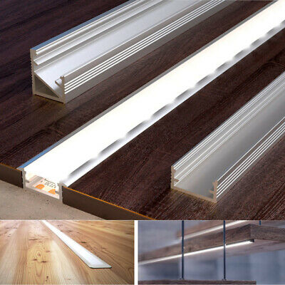 1 Meter Aluminium Channel For LED Strip Light With Cover PVC Profile 5050 3528  • 5.98£
