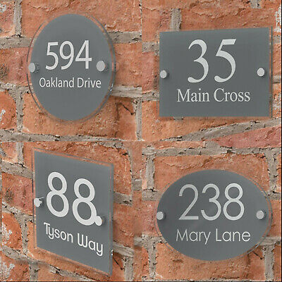 Modern House Or Office Number Sign Plaque, Doors, Wall, Home Porch, Name Address • 8.95£