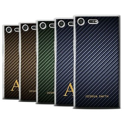 AU10.90 • Buy Personalised Carbon Fibre Effect Case For Sony Xperia XZ Premium/Gel Cover