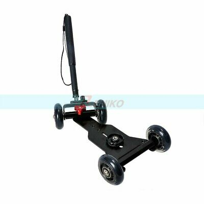 Mini Four-wheels Scaled Dolly Skater Car With Handle Grip For Camera Camcorder • 29.44£