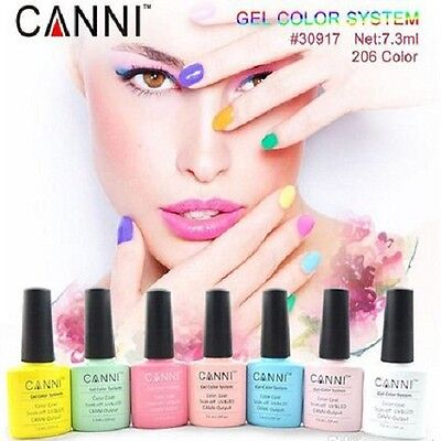 Genuine Canni Uv Led Gel Nail Polish Varnish Top Colours, Top Coat Or Base Coat • 8.99£