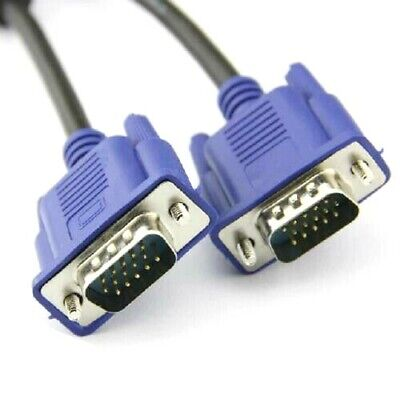 £3.45 • Buy VGA CABLE Male To Male 1m - 20m SVGA 15 Pin PC Computer Monitor LCD LED TFT Lead