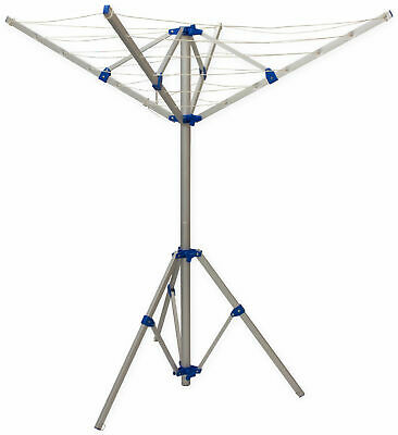 Andes 4 Arm Aluminium Rotary Camping Clothes Airer 16m Washing Line Drying Rack • 19.95£