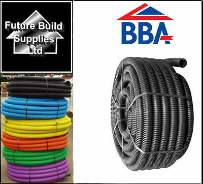Twinwall Cable Ducting With Drawstring Black, Blue, Yellow, Green, Flexible  • 91£