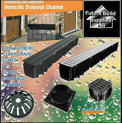 £19.50 • Buy  Heavy Duty PVC Or Galvanised Channel Drainage Grating 1m Length Clark Drain