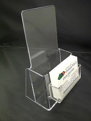 £6.67 • Buy Dual Use Counter Standing Leaflet & Business Card Holder For DL Size Flyers Menu