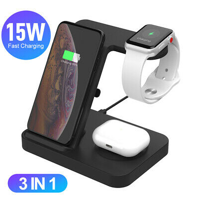 $ CDN30.35 • Buy 3 In 1 Charging Dock Charger Stand For Apple Watch Series For IPhone 11 Pro Max
