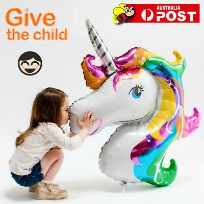 AU5.45 • Buy HUGE UNICORN FOIL Balloon Birthday Kids Party